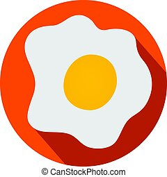 Fried eggs flat design