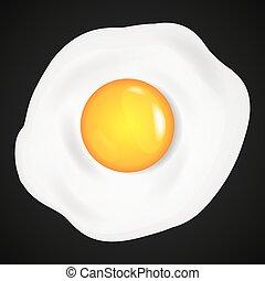 Fried eggs, omelet in cartoon style.
