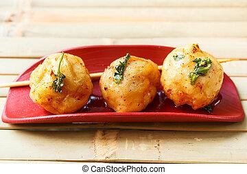 Fried fish ball.