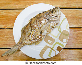 Fried fish, delicious thai food