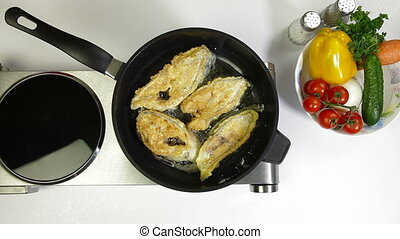 Fried Fish Preparation - Food Preparation - Deep Fried Fish