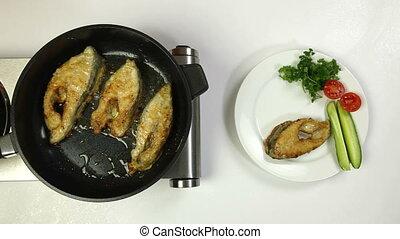 Fried Fish Preparation - Food Preparation - Deep Fried Fish