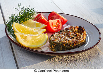 Fish fillet in lemon & butter sauce, served with ... - YouTube