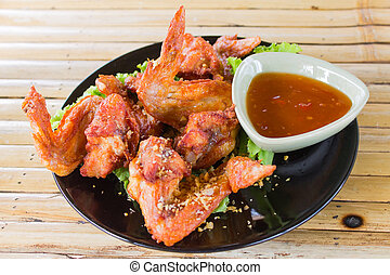 Fried Hot Chicken Wings