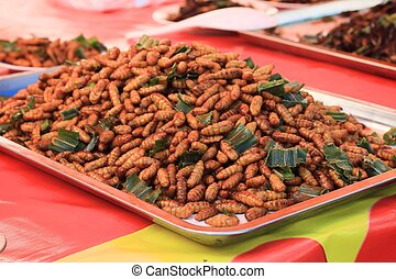 fried insects