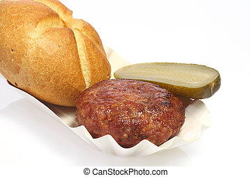Fried meatball - Tasty meatball on bright background
