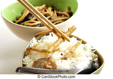 Fried mushroom with Oyster sauce