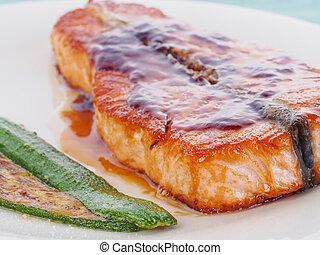 Fried Norwegian Salmon