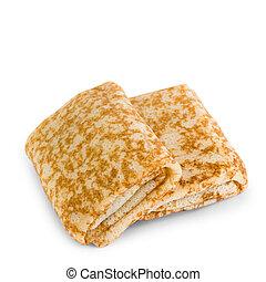fried pancakes isolated on white background