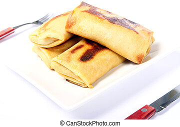 Fried pancakes on the plate