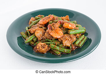 Fried Parkia with shrimp spices