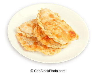 pasties on a white plate