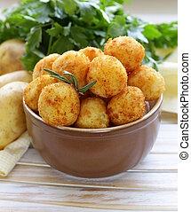 fried potato balls (croquettes)
