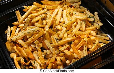 fried potato seasoned