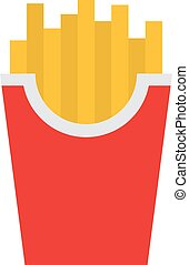 Fried potatoes vector - Fried potatoes fries in paper...