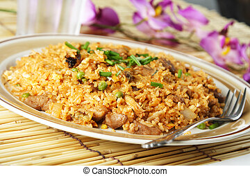 Fried rice - A plate of delicious oriental fried rice
