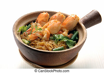 fried rice noodles with Seafood