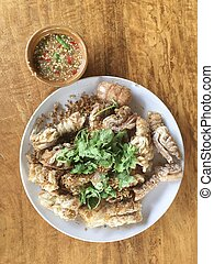 Fried Sea Bass with Garlic and Pepper