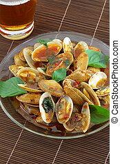 Fried shellfish.