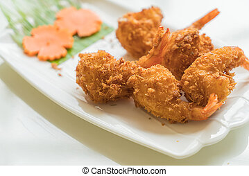 fried shrimp with cheese