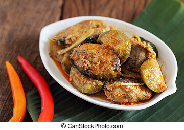 Fried spicy catfish.