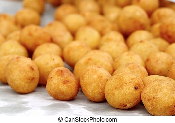 fried sweet potato at street food