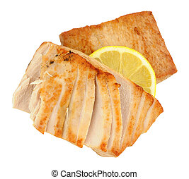 Fried Yellow Fin Tuna Steaks - Two fried yellow fin tuna...