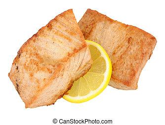 Fried Yellow Fin Tuna Steaks - Two fried yellow fin tuna ...