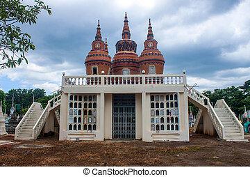 friedhof, in, kanchanaburi, thailand