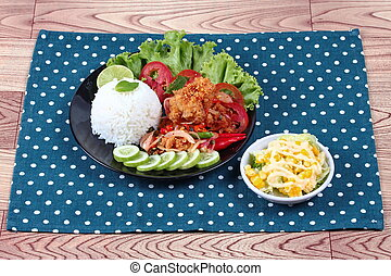 Fried,jasmine rice,shrimp paste,kap - Jasmine rice with...