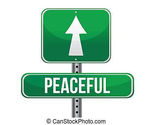 friedlich, design, straße, abbildung, zeichen