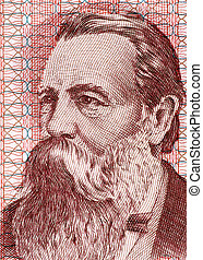 Friedrich Engels (1820-1895) on 50 Marks 1951 Banknote from...