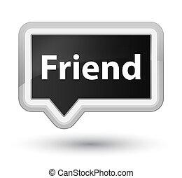 Friend prime black banner button