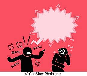 friend., seu, gritando, homem, shouting