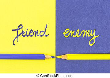 Friend versus Enemy contrast concept