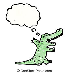 Alligator cartoon. Alligator character isolated on a white ...
