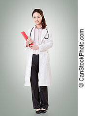Asian doctor woman