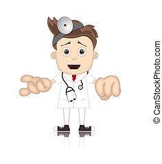 Friendly Ben Boy Doctor Doc Medicone Hospital Cartoon