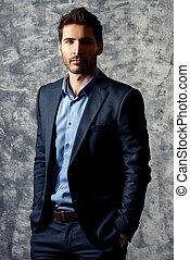 friendly businessman - Fashion shot of a handsome man...