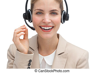 Friendly call center agent