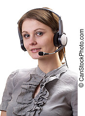 Friendly call center operator