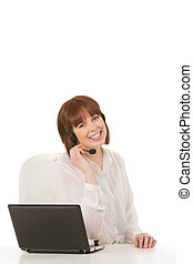 Friendly call centre operator