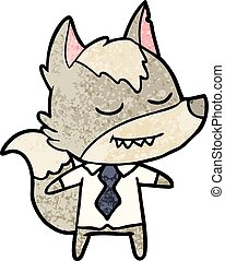 friendly cartoon boss wolf