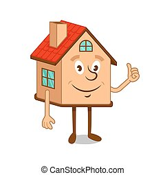 Friendly cartoon character house