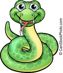 Friendly Cartoon Snake