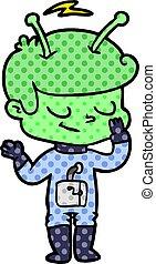 friendly cartoon spaceman