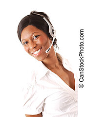 Friendly Comms - This is an image of a female call operator....