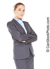 Friendly confident business executive