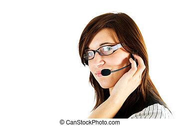 Friendly customer service agent