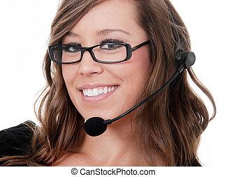 Friendly customer service operator
